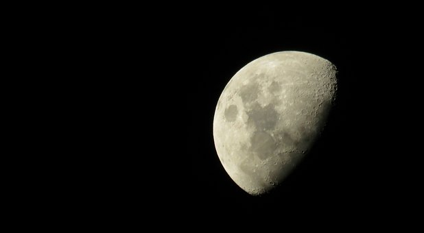 Moon, Night, Lunar Surface, Crater, Night Sky, Craters