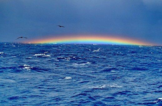 The Bermuda Triangle, Rainbow, Ocean