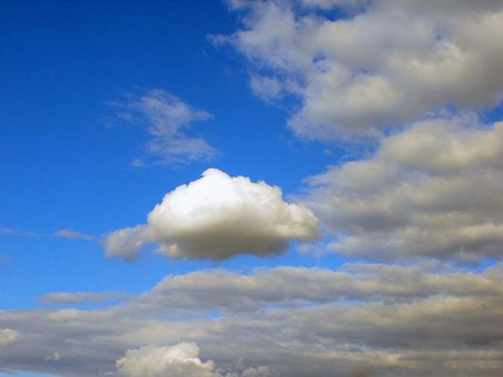 The Sky, The Clouds, Puff, Sky, Panorama, Outdoors