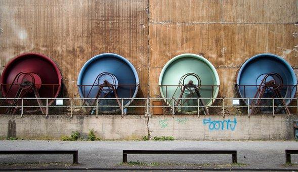 Fan, Paddle-wheel, Duisburg, Landscape Park, Ruhr Area