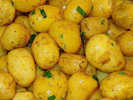 Potatoes, Vegetables, Eating, Fresh, Healthy Food
