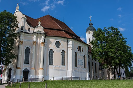 Pilgrimage Church Of Wies, Rococo, Schwangau, Religion
