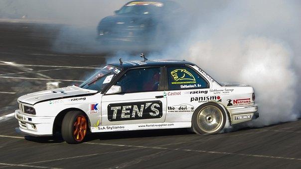Drifting, Sport, Drift, Car, Speed, Racing, Fast, Smoke