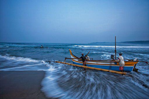 Whether, Boat, Before Sunrise, Movement, Wave