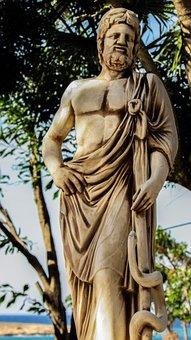Asclepius, God, Medicine, Ancient Greece, Sculpture