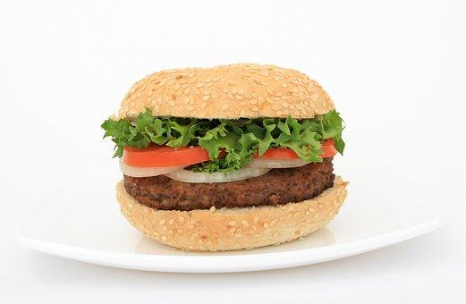 Appetite, Beef, Plate, Bread, Bun, Burger, Calories