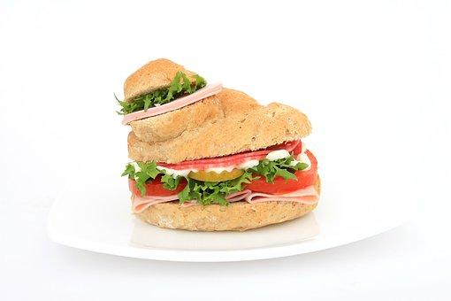 Bread, Brown, Bun, Burger, Calories, Close-up, Color