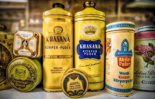 Powder, Body Care, Old, Museum, Box, Cosmetics
