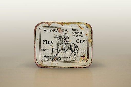 Tobacco Tin, Snuff, Fine Cut, Collectible, Horse