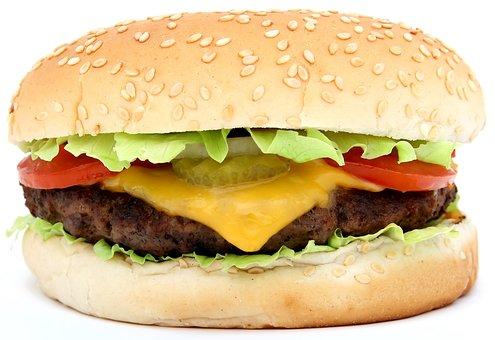 Beef, Bread, Bun, Burger, Cheese, Fatty, Food, Fresh