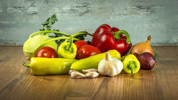 Vegetables, Tomatoes, Pepper, Paprika, Garlic, Onions