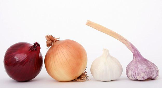 Food, Onions, Garlic, Spices, Herbs, Ingredients, Red