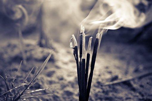 Burn, Burning, Incenses, Travel, India, Asia, Nature
