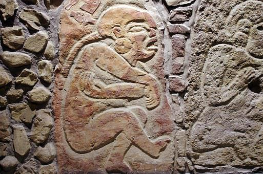 Mexico, Anthropological Museum, Low Relief, Pain, Care