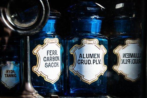 Bottles, Pharmacy, Glass, Old, Flea Market, Medical