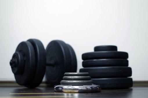 Sport, Exercise, Gym, Load, Bitumen, Iron, Metal, Plate