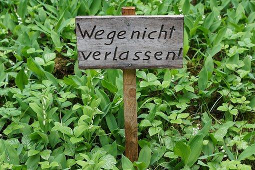 Shield, Away, Nature, Ban, Regulation, Hattingen