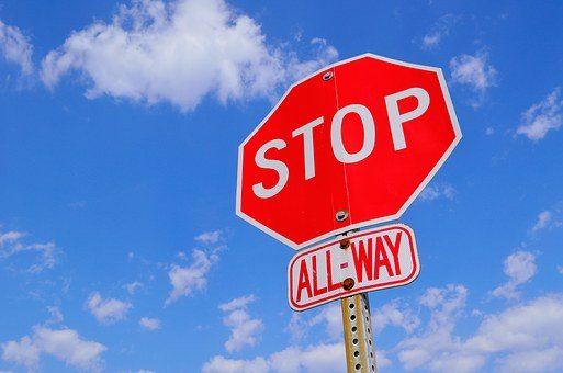 Stop Sign, Attention, Stop, Warning, Danger, Road Sign