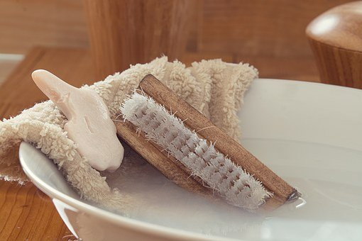 Wash Brush, Hand Brush, Soap, Washcloth, Wash Bowl