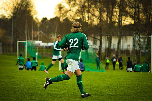 Football, Boy, Youth, Teen, Run, Shoes, Sports, Ball