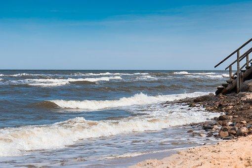 The Baltic Sea, The Waves, Beach, Waves