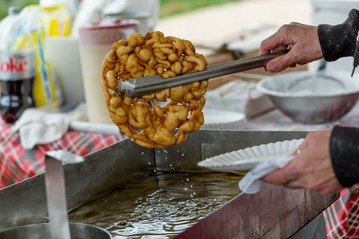 Funnel Cake, Hot Grease, Hot Oil, Cooking, Festival