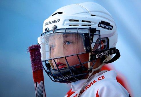 Hockey, Inline Hockey, Player, Hockey Player, Helmet