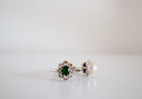 Rings, Jewelry, Emerald, Precious, White Gold