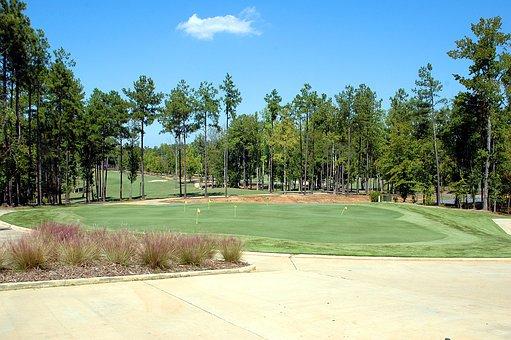 Golf Course, Golf, Putting Green, Landscape, Sport