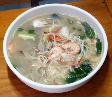 Noodles, Haemul-kalguksu, Hand Alkaline Noodles, Food