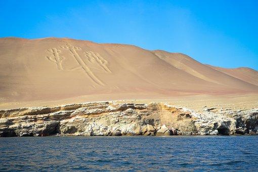 Paracas, Sea, Nazca Lines, Island, Peru