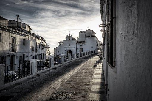 Mijas, Andalusia, Spain, Costa, Sol, Andalucia, Street