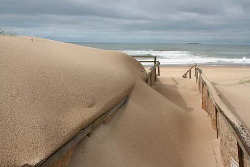 Stormy, Sand, Path, Sea, Beach, Nature, Outdoor, Cloudy