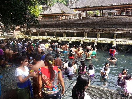 Bali, Tirta Empul, Indonesia, Asia, Bath, Religion