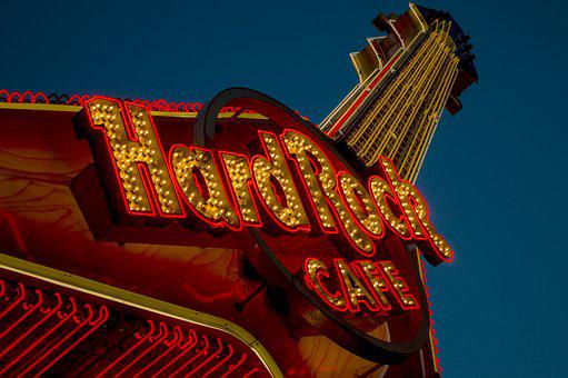 Hard Rock, Hard Rock Cafe, Sign, Cafe, Music, Bar, Icon