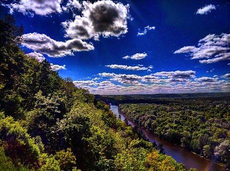 Sky, Clouds, When, Nature, Cumulus, Blue, Sun, Cloud