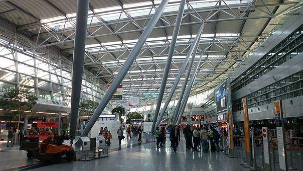 Airport, Checkin, Düsseldorf, Glass Dome