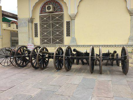 War, Cannon, Old, Tank, Indian, India, Fort, King