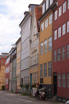 Street, Copenhagen, Christianshavn, Denmark, Houses