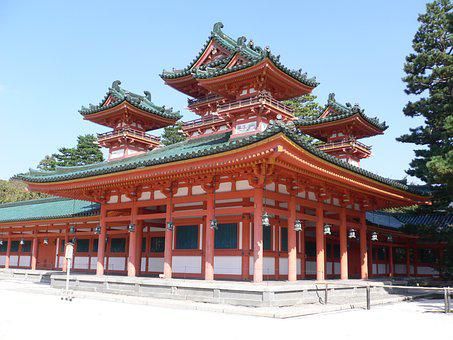 Temple, Japanese, Japan, Kyoto, Traditional