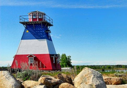 Lighthouse, Acadian, Neguac, Canada, Coast, Landmark