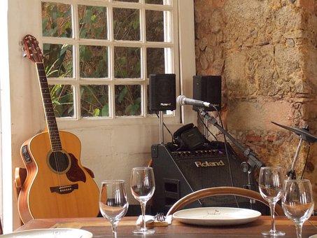 Stage, Music, Guitar, Artist, Microphone, Instrument