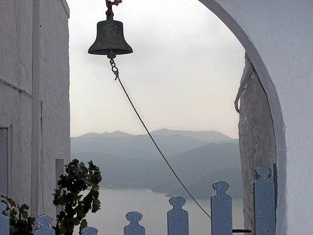 Cyclades, Milos, Bell, Chapel, Hellas, Greece