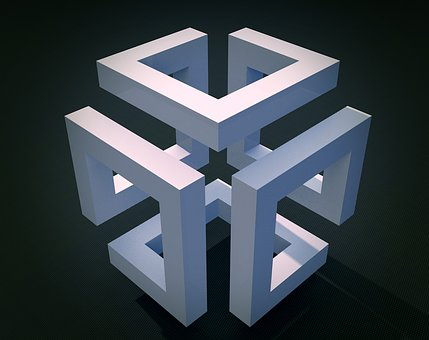 Cube, Geometry, Construction, Model, Geometric