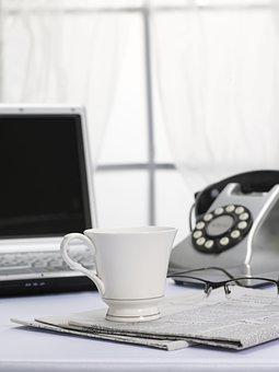 Phone, Coffee, Teacup, Computer, Notebook, Telephone