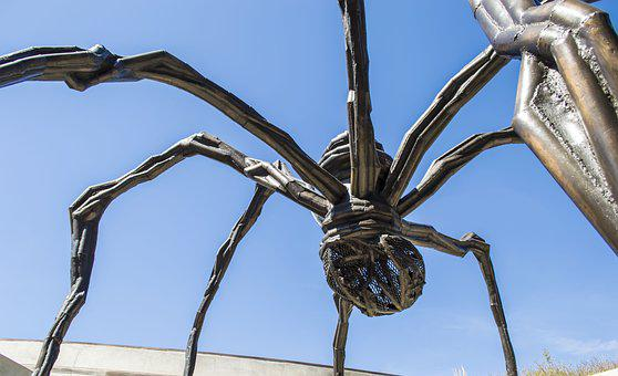 Sculpture, Spider Sculpture, Metal Sculpture, Spider