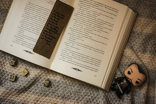 Book, Bookmark, The Bones, Dice For Games, The Figurine
