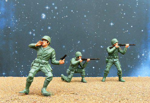 Soldiers, Combat, War, Army, Military, Toys