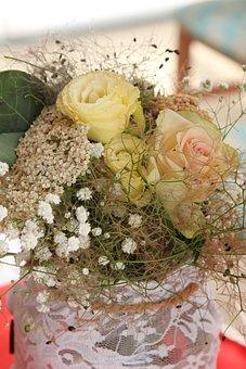 Vintage, Romantic, Rose, Lace, Romanticism, Nice