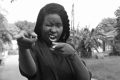 African Woman, Beauty, Pointing, Finger, African, Woman